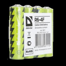Батарейка солевая Defender R6-4F AA