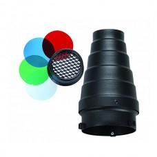 Узкоугольная насадка Visico SN-303 с сотой и цветными фильтрами