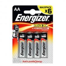 Элемент питания Energizer AA (LR6) Max BL6