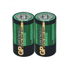Элемент питания GP D (R20) Greencell (без блистера)