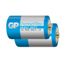 Элемент питания GP D (R20) Power Plus Blue (без блистера)