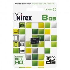 Карта памяти MicroSD 8GB Mirex Class 10 (13612-MC10SD08)