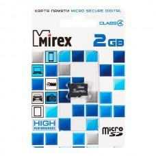 Карта памяти MicroSD 2GB Mirex Class 4 (13612-MCROSD02)