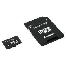 Карта памяти MicroSD 2GB QUMO с адаптером (QM2GMICSD)