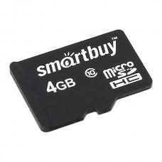 Карта памяти MicroSD 4GB SmartBuy Class 10 (SB4GBSDCL10-00)