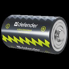 Батарейка алкалиновая Defender LR20-2B D, в блистере 2 шт