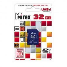 Карта памяти SDHC 32Gb MIREX Class 10 UHS-I (13611-SD1UHS32)