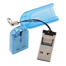 Картридер MicroSD USB 2.0 Oxion, синий OCR012BL