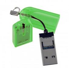 Картридер MicroSD USB 2.0 Oxion, зеленый OCR012GR