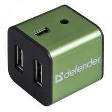 Универсальный USB разветвитель Defender Quadro Iron USB 2.0, 4 порта