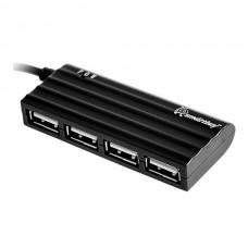 USB разветвитель Smartbuy 4 порта, черный (SBHA-6810-K)