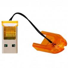 Картридер Smartbuy MicroSD, оранжевый (SBR-710-O)