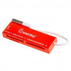 Картридер Smartbuy USB 2.0, красный (SBR-717-R)