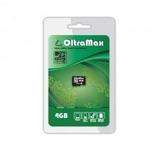 Карта памяти MicroSD 4GB OltraMax Class 4 (OM004GCSDHC4-W/A-AD)
