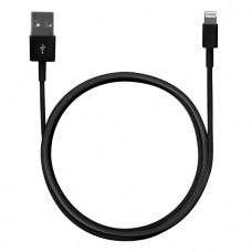 Кабель Mirex USB 2.0 Type A - Lightning 8-Pin, черный 1 м