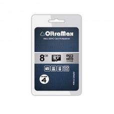 Карта памяти MicroSD 8GB Oltramax Class 4 (OM008GCSDHC4-W/A-AD)