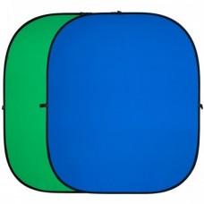 Фон складной FST BP-025 зеленый/синий 150x200 см
