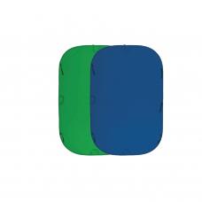 Складной фон Fujimi FJ 706GB-180/210 180х210 см синий/зелёный