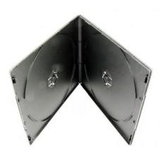 Футляр для 2DVD 9 мм Slim (чёрный глянец) 100 шт