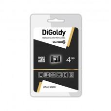 Карта памяти microSDHC 4GB DiGoldy Class 10 (DG004GCSDHC10-W/A-AD)