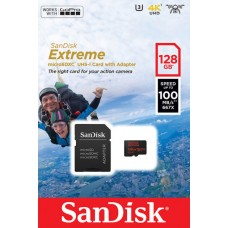 Карта памяти MicroSD 128GB SanDisk Class 10 UHS-I A1 Extreme for Action Cameras + SD адаптер (SDSQXAF-128G-GN6AA)