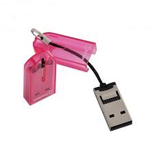 Картридер OXION, розовый (OCR012PK)