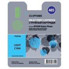 Картридж струйный Cactus CS-EPT0485 (C13T04854010) светло-голубой