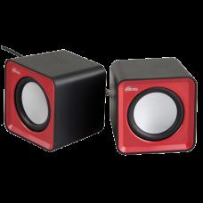 Колонки Ritmix SP-2020 черно-красные 2.0