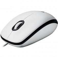 Мышь Logitech M100 Optical Mouse White проводная