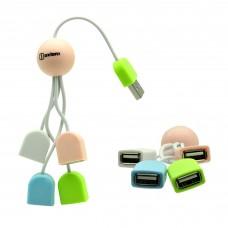 Универсальный USB-хаб Oxion OHB005 на 4 порта