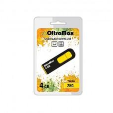 Флеш-накопитель USB 4GB Oltramax 250 желтый
