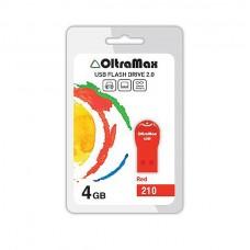 Флеш-накопитель USB 4GB Oltramax 210 красный