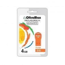 Флеш-накопитель USB 4GB Oltramax 210 оранжевый
