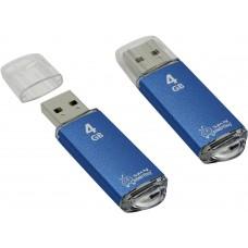 Флеш-накопитель USB 4GB Smartbuy V-Cut синий (SB4GBVC-B)