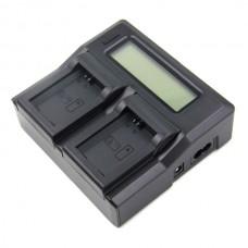 Двойное зарядное устройство Dual Charger для Sony NP-FW50 LCD