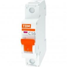 Выключатель автоматический TDM однополюсный ВА47-29 16А