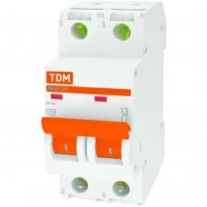 Выключатель автоматический TDM двухполюсный ВА47-29 20А