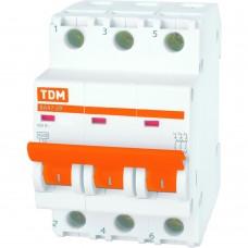 Выключатель автоматический TDM трехполюсный ВА47-29 25А