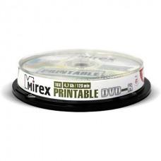 Диск Mirex DVD-R 4.7 GB 16x Printable Cake Box 10 шт (UL130028A1L)