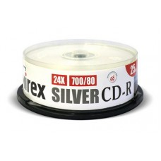 Диск Mirex CD-R Silver 700MB 24x 25 шт (UL120055A8M)