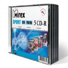 Диск Mirex CD-R Sport 700MB 52x Slim Case 5 шт (UL120180A8F)
