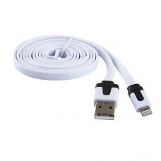 Кабель USB Blast BMC-213 Lightning (8pin) White плоский 1.5m