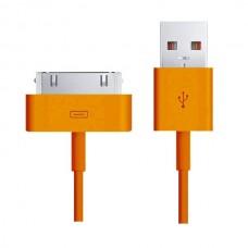 Кабель Smartbuy USB 2.0 - Apple 30-pin оранжевый 1.2 м (iK-412c orange)