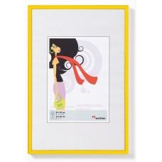 Рамка для фотографий Walther N.Lifestyle пластик желтая 10x15 см
