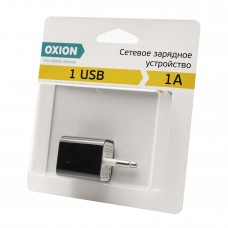 Сетевое зарядное устройство 1А USB OXION ACA-008