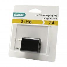 Сетевое зарядное устройство 2А USB OXION ACA-009