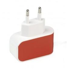 Сетевой адаптер Smartbuy Color Charge оранжевый SBP-8050