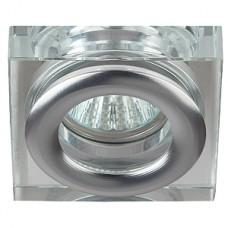 Светильник декоративный ЭРА MR16 WR4 CH/SL 50W хром/серебро