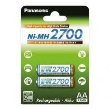 Аккумулятор Panasonic BK-3HGAE/2BE 2700 mAh, 2шт, AA