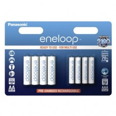 Аккумуляторы Panasonic Eneloop BK-KJMCCE44E AA 1900 mAh (4шт) + AAA 750 mAh (4шт)